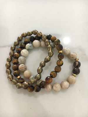 Set of 3 real stone bracelets! XMAS🎄🎁🎄 for Sale in Dallas, TX