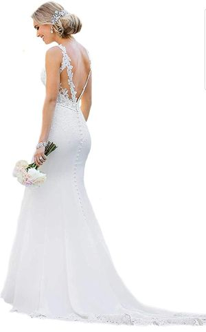 Bridal Dresses Sexy Backless Lace Appliques Mermaid Wedding Dresses for Bride for Sale in Riverside, CA