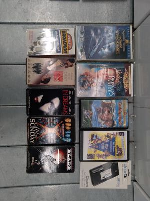 1 lot of CD's, DVD's and VHS tapes (93 total) for Sale in Brooklyn, NY