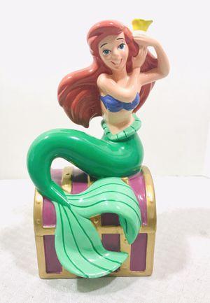 Disney Ariel Little Mermaid Ceramic Porcelain Figurine Bank for Sale in Pawtucket, RI