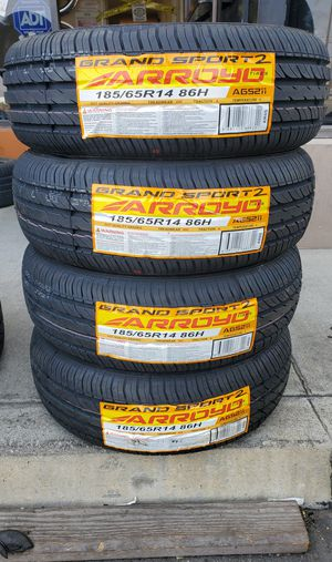 185 65 14 NEW TIRES FREE INSTALLATION for Sale in Rancho Cucamonga, CA