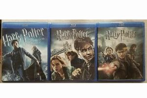 Harry Potter Half Blood and Deathly Hallows Part 1 -2 in Blu-ray all for $20, Disney marvel Harry Potter DC movies Bluray and dvd collectibles for Sale in Everett, WA