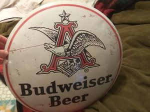 Budweiser tin wall art for Sale in Florence, MS