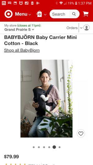 BABYBJÖRN Baby Carrier Mini Cotton - Black for Sale in Grand Prairie, TX