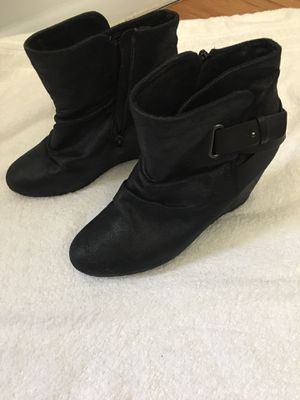 Boots black platform size 11 for Sale in Harrison, NJ