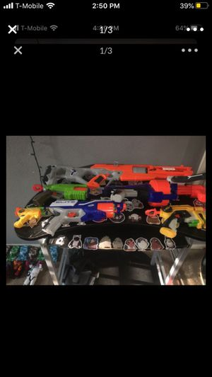 nerf guns +200 bullets for Sale in Perris, CA