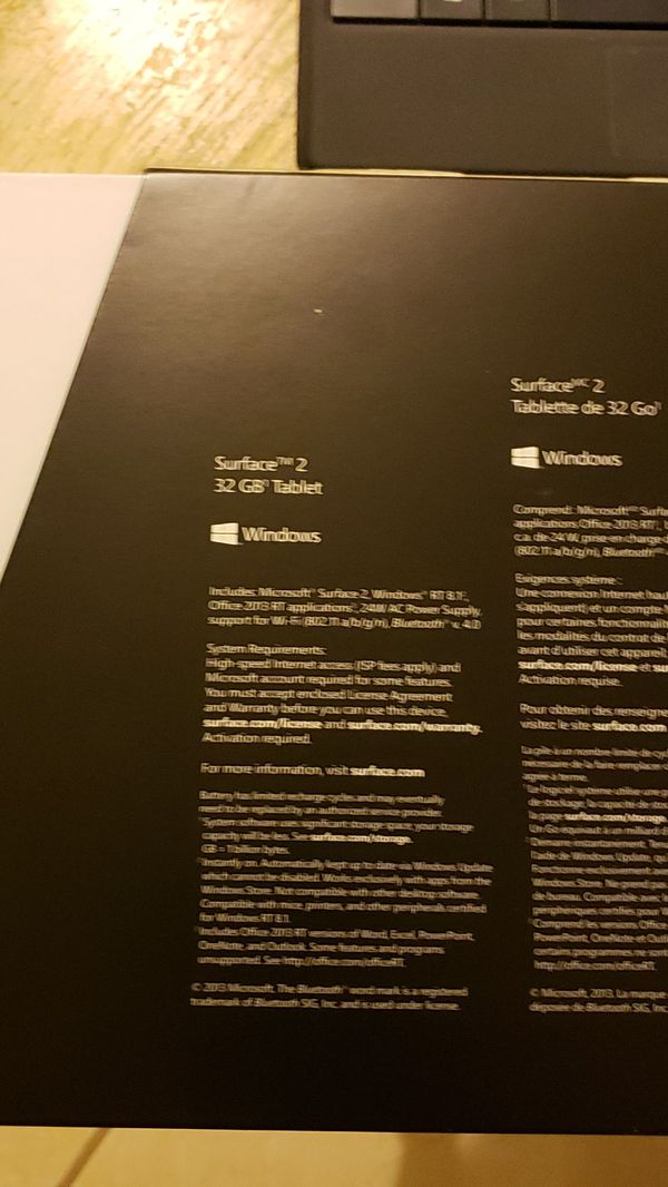 Microsoft Surface 2 with case and charger