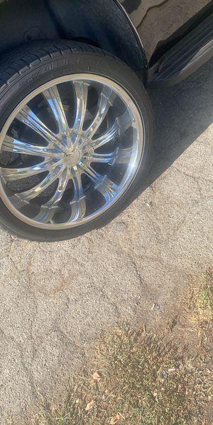 24 size rims(borgini wheels) for Sale in Phillips Ranch, CA