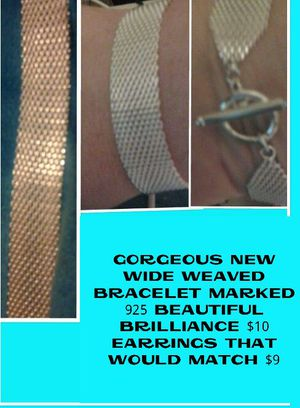 Gorgeous wide weaved bracelet marked 925 for Sale in Lewisburg, PA