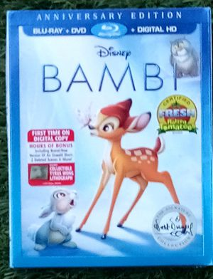 New Blu-Ray +DVD+ Digital HD Disney BAMBI Anniversary Edition The Signature Walt Disney Collection. for Sale in Alhambra, CA