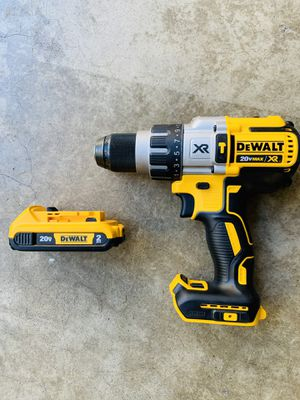 DEWALT 20-Volt MAX XR Lithium-Ion Cordless 1/2 in. Premium Brushless Hammer Drill and battery for Sale in Whittier, CA