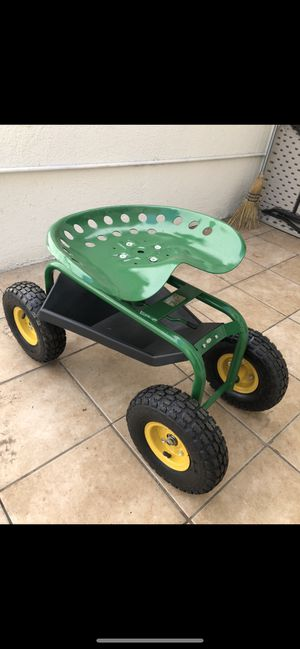 Rolling garden cart with swivel seat & tray (never used) for Sale in Sunland-Tujunga, CA