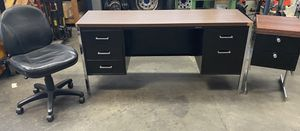 Metal Desk and File Cabinet with Chair for Sale in Ontario, CA