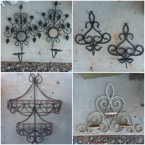 Wrought iron candle holder etc...i have more for Sale in Albuquerque, NM