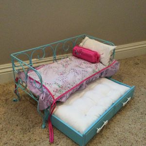 American Girl Doll Bed With Trundle And Bedding for Sale in Westminster, CA