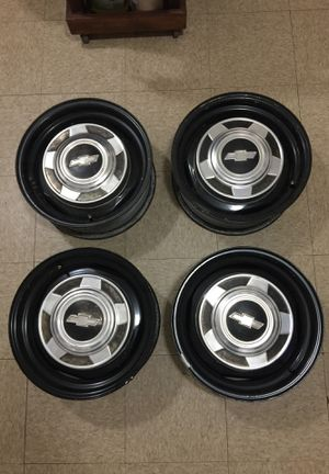 Conventional wheels rims 15 x 6 - 5 Bolts from Chevy Van G series, for Sale in San Diego, CA