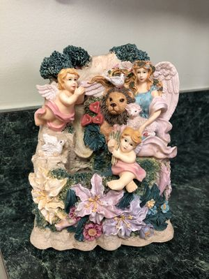 Angels and Animals Religious Tabletop Water Fountain for Sale in Hanover, PA