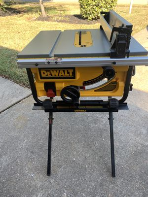 DEWALT 15-Amp Corded 10 in. Compact Job Site Table Saw w/ stand - comes as pictured - NEW for Sale in Spring, TX