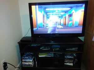 Panasonic 46' TV and stand for Sale in Fresno, CA
