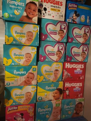 Huggies and pampers diapers.. for Sale in Houston, TX