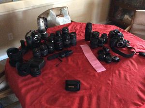 Mixed cameras And lenses, canon lense for Sale in Bakersfield, CA