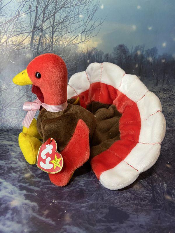 TY Beanie Baby Gobbles the turkey plush toy