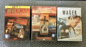 """[Lot Of 7] Religious DVDs: 6 Documentaries + Randy Travis faith based MOVIE """"The Wager"""" for Sale in HUNTINGTN BCH, CA"""