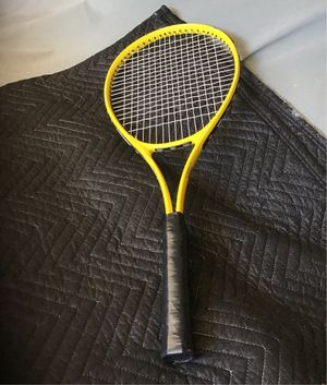 Yellow tennis racket size 4 1/2 for Sale in Corona, CA