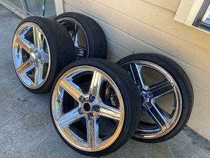 20 Inch Chrome Iroc Rims and Tires for Sale in Vallejo, CA