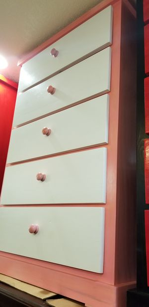Pink and white pinewood dresser for Sale in Santa Monica, CA