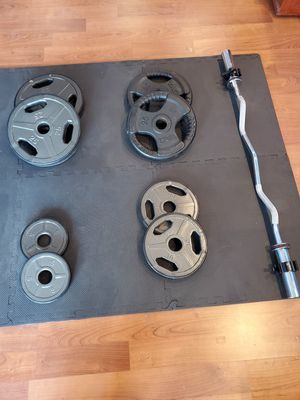 Weights, barbell, plates, Olympic. for Sale in Chicago, IL