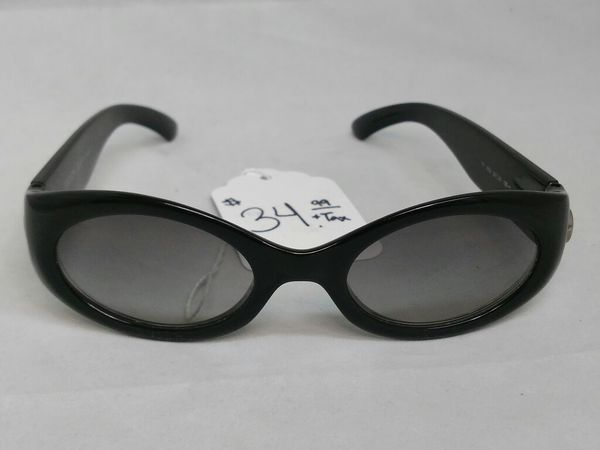 $35 - Escada E1121 G0/D Polished Black Sunglasses 50 21 125