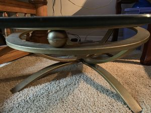 "Brass & Glass Top Coffee Table 32""x45"" and 12"" hight asking $100. Obo Today for Sale in Boca Raton, FL"