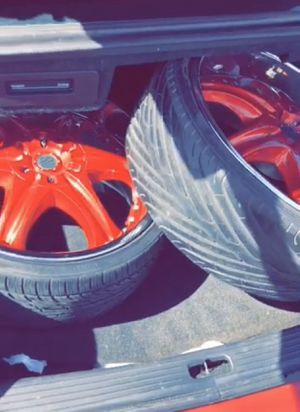 22 inch TIS rims with Lo Pro tires for Sale in Tucson, AZ