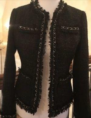 Boston Proper iconic Black Parisian Tweed Jacket Size 12 for Sale in West Palm Beach, FL