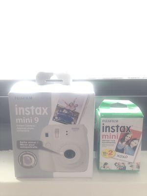 Instax mini 9 Polaroid camera with film for Sale in Alexandria, VA