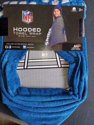 New Lions Jr hooded towel for Sale in Hoxeyville, MI