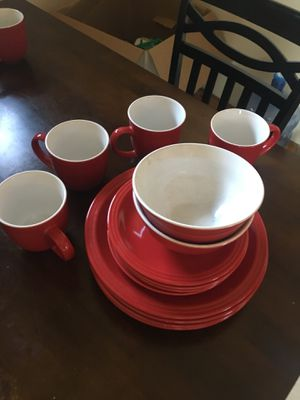 Matching cups, bowls, plates & smaller plates!!! for Sale in Denver, CO