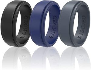 Silicone Wedding Rings for Men and Women 3 Pack Wedding Bands for Fitness, Engineers, Sports, Weightlifting | Comfortable Fit, Skin Safe Soft Rubber W for Sale in McCalla, AL