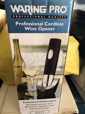 Waring Pro - Professional Cordless Wine Opener for Sale in Weatherford, TX