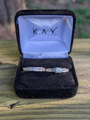 2ct tw Princess Cut Engagement Ring and Wedding Band for Sale in Decatur, GA