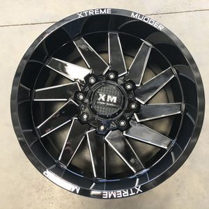 New Wheels Xtreme Mudder XM-344 6X135/6X139.7 -18 108 Gloss Black Milled For A Set for Sale in Corona, CA