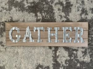 GATHER HANDMADE VINTAGE SIGN for Sale in Jersey City, NJ