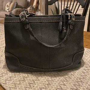 Coach Medium Pebble Leather Black Tote Bag for Sale in Oak Hills, CA