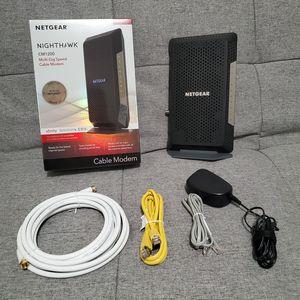 Netgear Nighthawk Gigabit Modem (CM1200) + Original Box and Premium Coaxial Cable for Sale in Johnston, IA