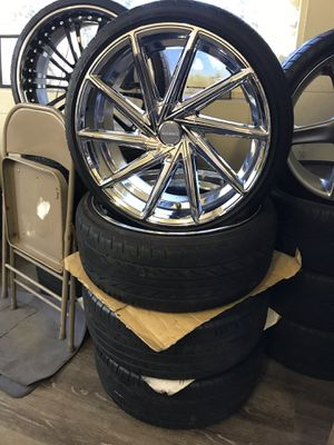 "20"" Chrome Rims and Tires 5Lug for Sale in Norfolk, VA"