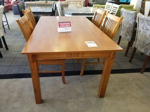 Solid Wood Dining Table with four chairs for Sale in Phoenix, AZ