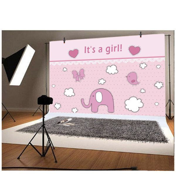 Baby Shower Elephant Pink
