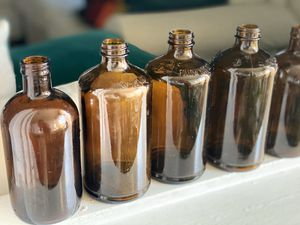Brown glass bottles - 16 bottles for Sale in San Diego, CA