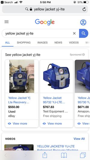Yellow jacket refrigerent for Sale in Houston, TX